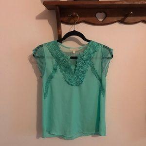 Turquoise XS Gianni Bini Blouse